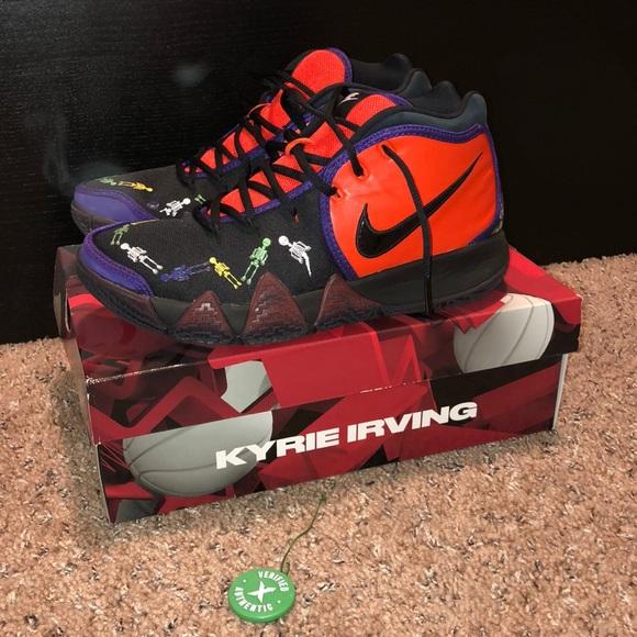 """watch 371dd b4475 Nike Kyrie 4 """"Day of The Dead"""" NWT"""